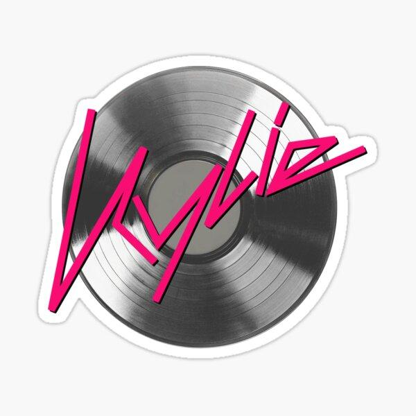 Kylie Minogue - record (silver) Sticker