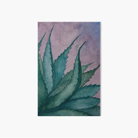 Agave plant watercolor painting Art Board Print