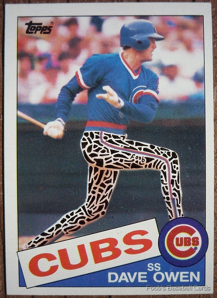 042 - Dave Owen by Foob's Baseball Cards