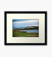 Icelandic Landscape with Small Location at Fjord Coastline Framed Print
