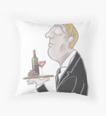 Jeeves and wine Throw Pillow
