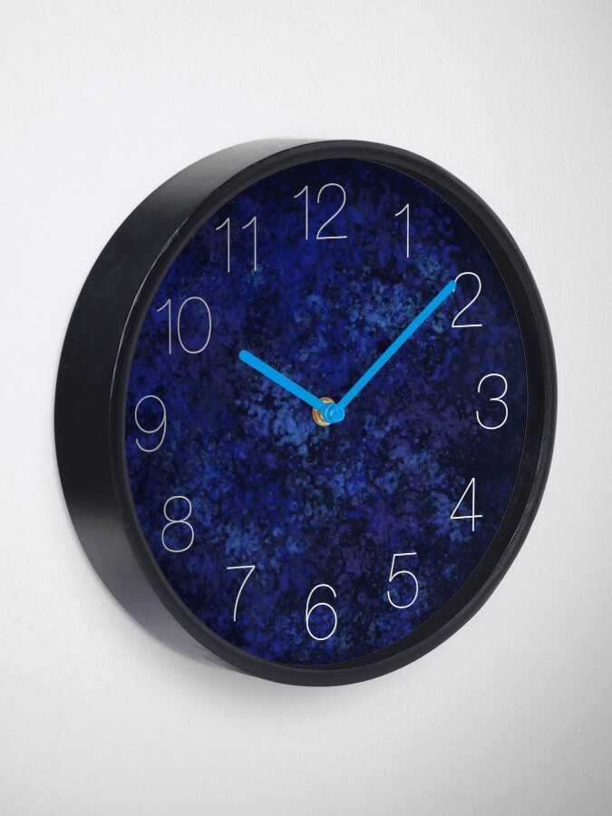Alternate view of Blue Opal Clock