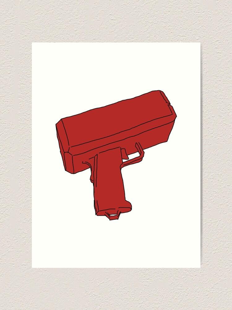 """Moral Tycoon - Supreme cartoon money gun"" Art Print by ..."
