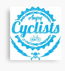 angry cyclists Canvas Print