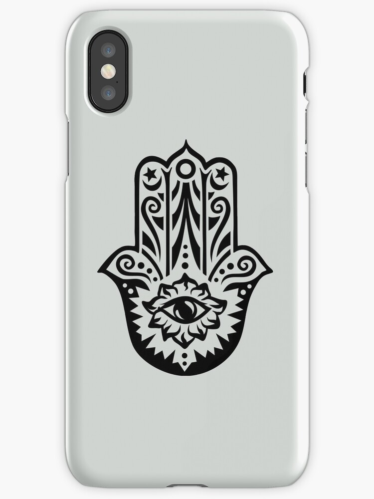 Hamsa Hand Of Fatima Protection Symbol All Seeing Eye Iphone
