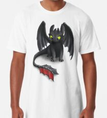 Toothless, Night Fury Inspired Dragon. Long T-Shirt