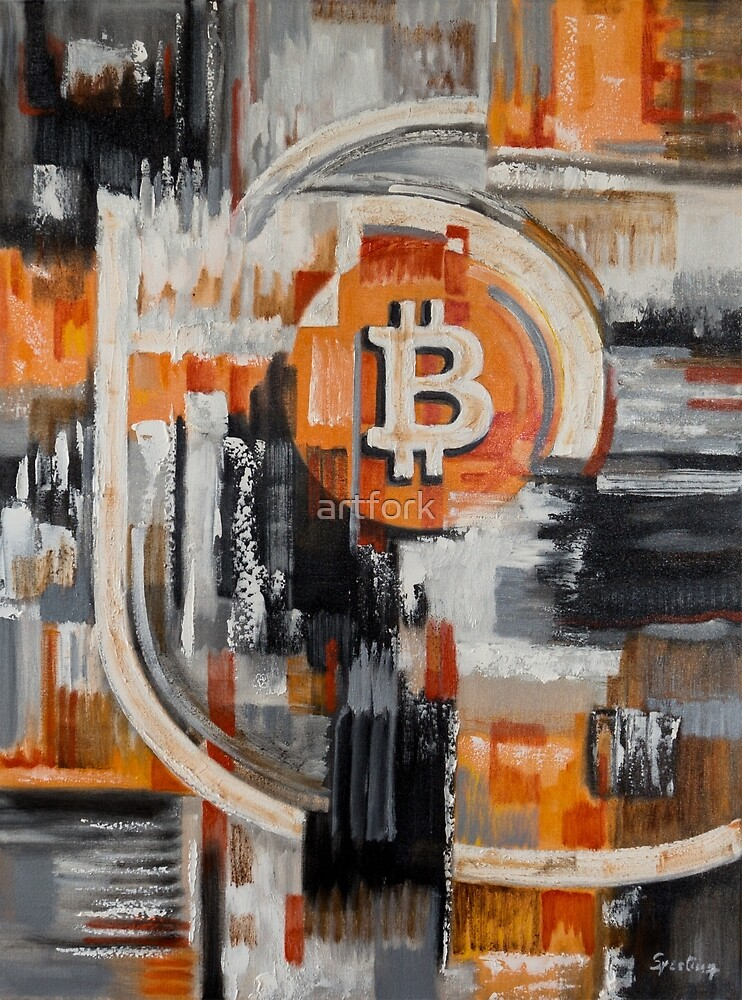 Bitcoin Lightning painting art  von artfork