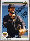 052 - Junior Ortiz by Foob's Baseball Cards