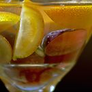 Lemons In Martini Glass With A touch of Red Grape by Tina Hailey