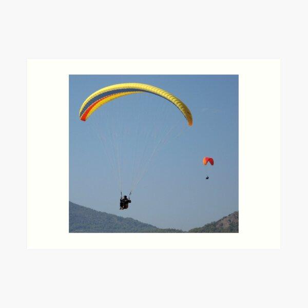Turkish Paragliders Art Print