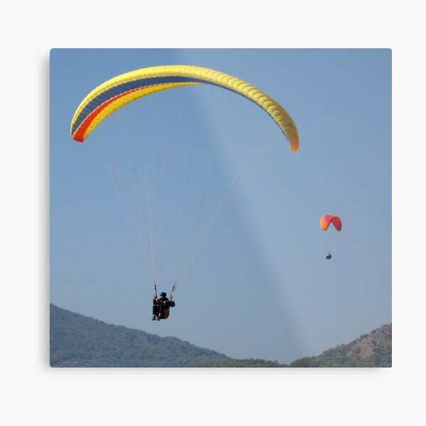 Turkish Paragliders Metal Print