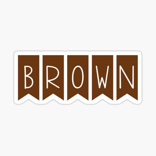 brown Sticker