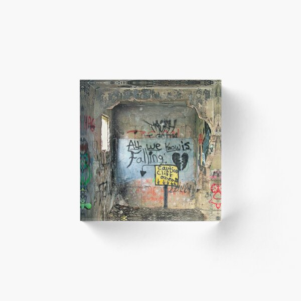 Ghost Town of Broken Hearts in Ruins Acrylic Block