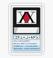 Hunter x Hunter - Hunter License Card Sticker