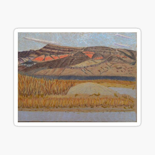 Dry Lakebed in Nevada Sticker