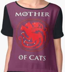 MOTHER OF CATS-GAME OF THRONES Chiffon Top