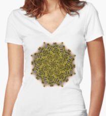 Organic Swurl 387 Women's Fitted V-Neck T-Shirt