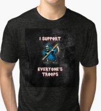 I support all your troops - Ghosts 'n Goblins Tri-blend T-Shirt