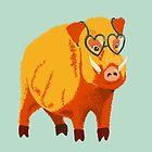 Funny Kind Hearted Boar by Boriana Giormova
