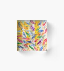 Leaves or Feathers? Acrylic Block