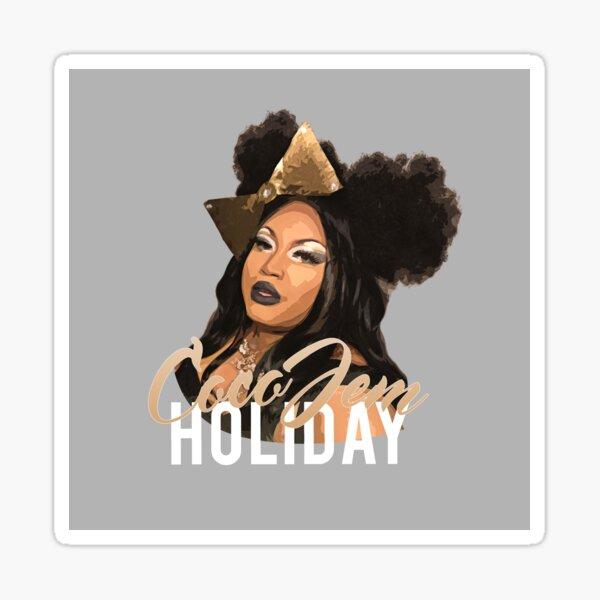 Coco Jem Holiday - Grey Sticker