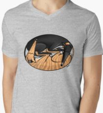 Yin Yang Hounds: A Redbubble exclusive design Men's V-Neck T-Shirt