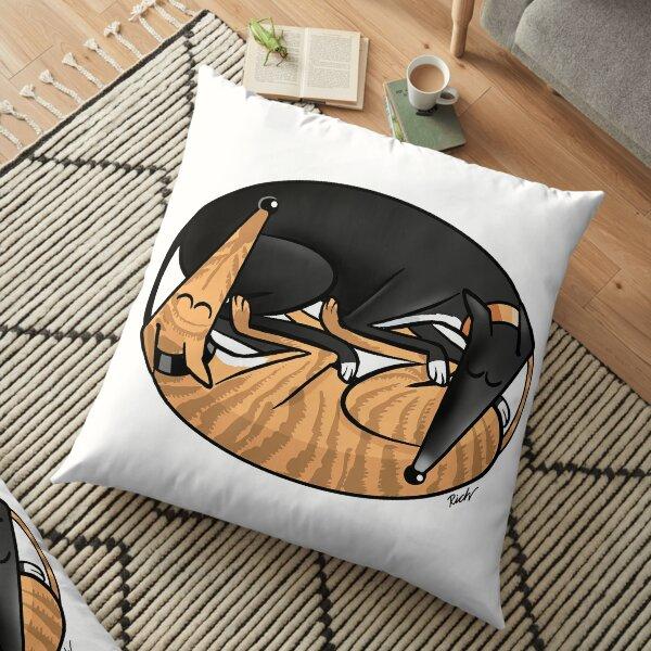 Yin Yang Hounds: A Redbubble exclusive design Floor Pillow
