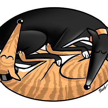 Yin Yang Hounds: A Redbubble exclusive design by RichSkipworth