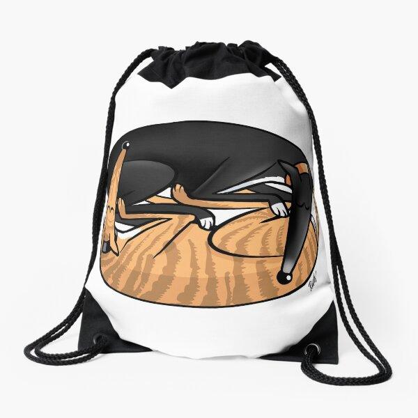 Yin Yang Hounds: A Redbubble exclusive design Drawstring Bag
