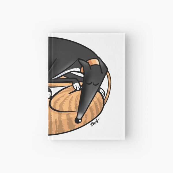 Yin Yang Hounds: A Redbubble exclusive design Hardcover Journal