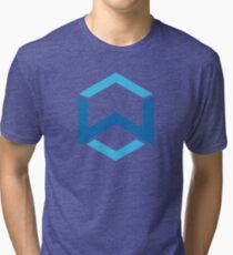 Wanchain WAN  Crypto Currency Icon Tri-blend T-Shirt