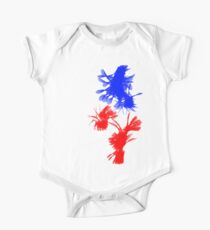 Blue And Red Swirls Kids Clothes