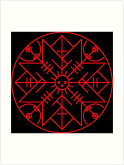 Láminas Artísticas Simbolo Vikingo Proteccion De Arkitekta Redbubble