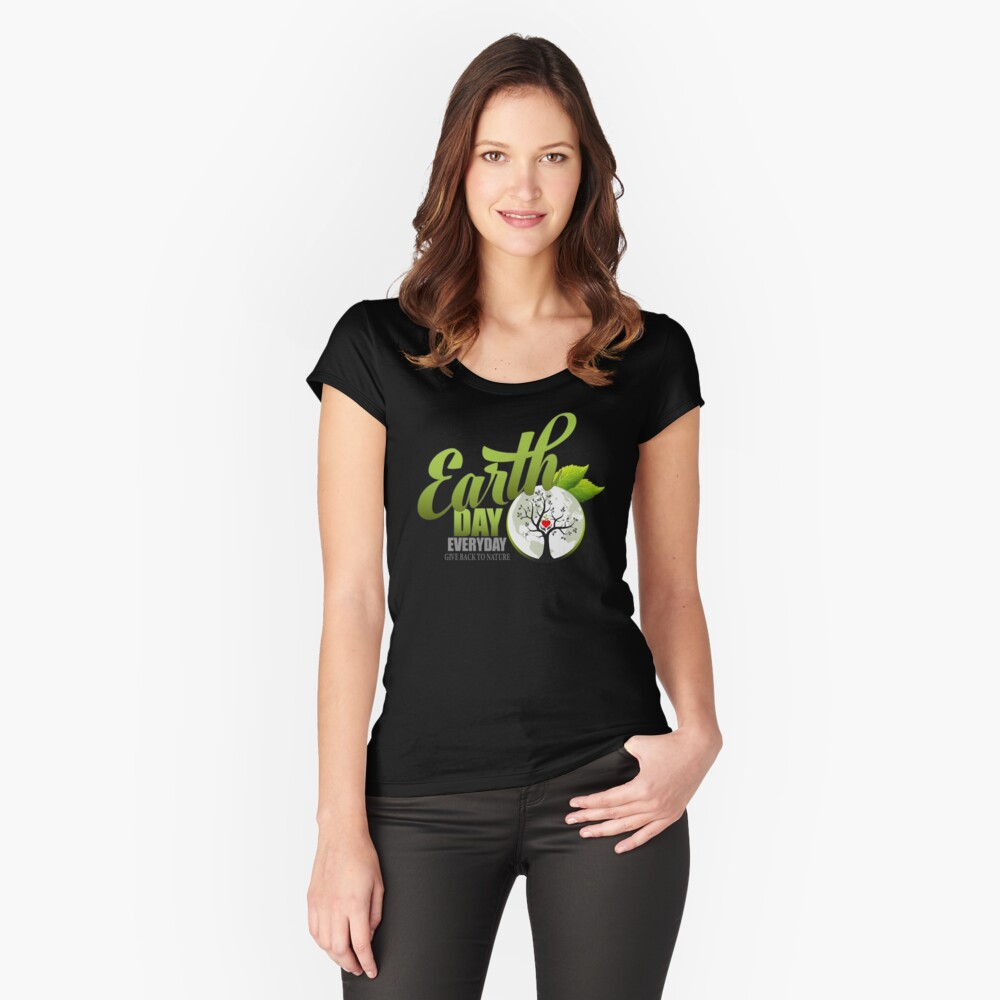 Give Back to Nature - Earth Day Everyday Fitted Scoop T-Shirt