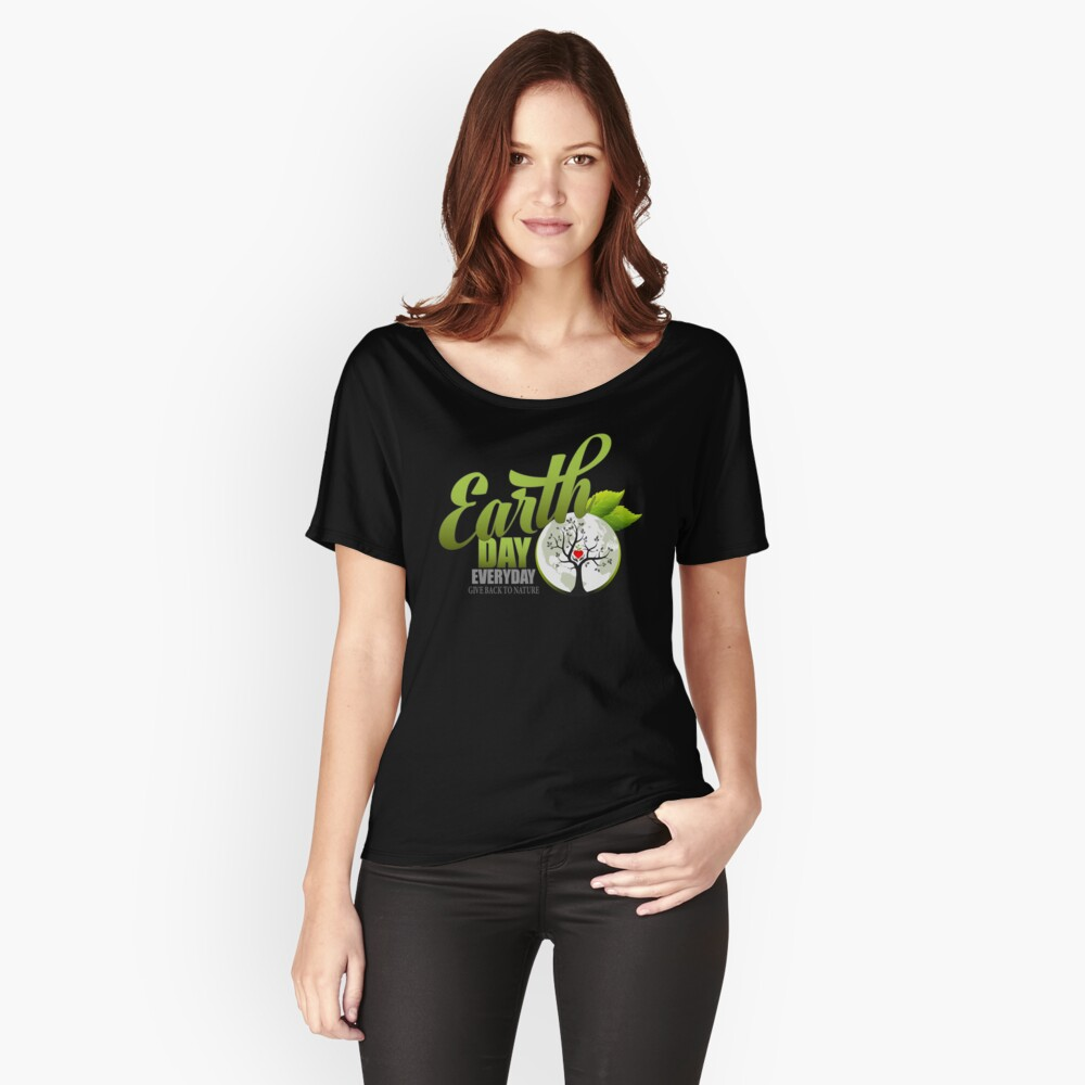Give Back to Nature - Earth Day Everyday Relaxed Fit T-Shirt