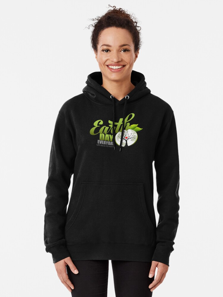 Alternate view of Give Back to Nature - Earth Day Everyday Pullover Hoodie