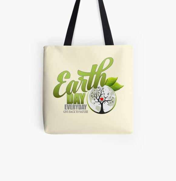 Give Back to Nature - Earth Day Everyday All Over Print Tote Bag