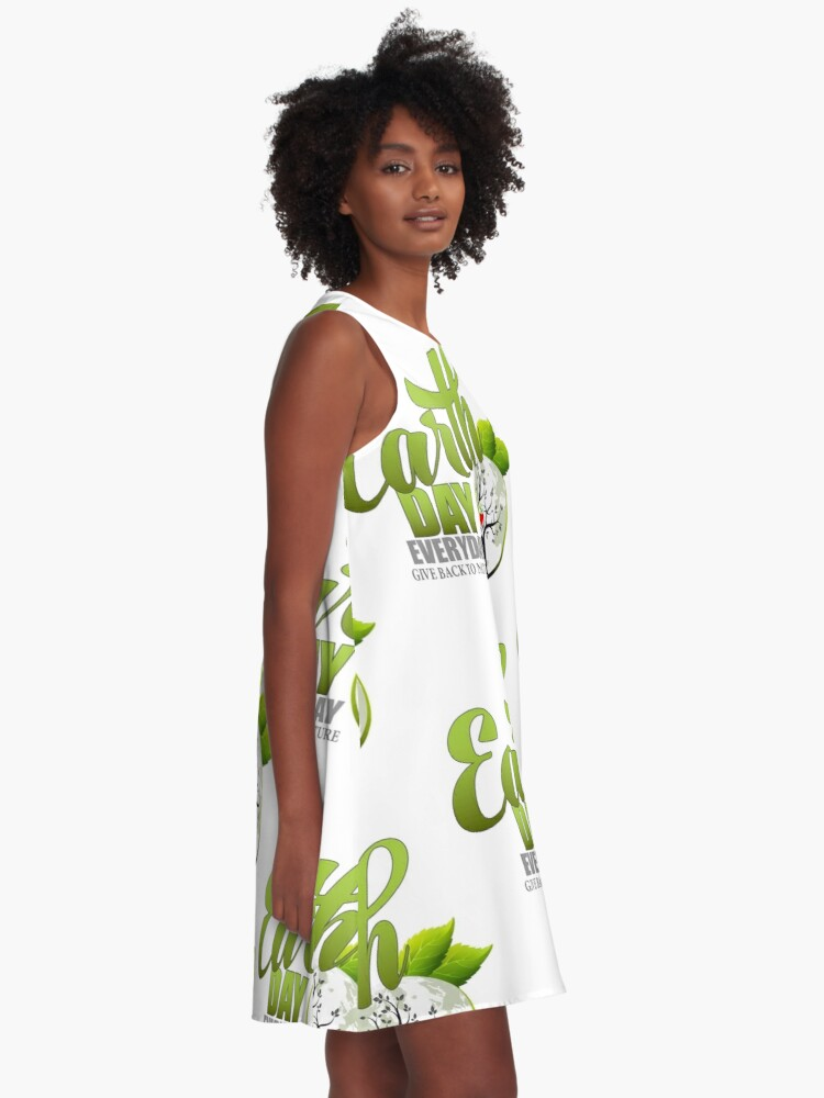 Alternate view of Give Back to Nature - Earth Day Everyday A-Line Dress