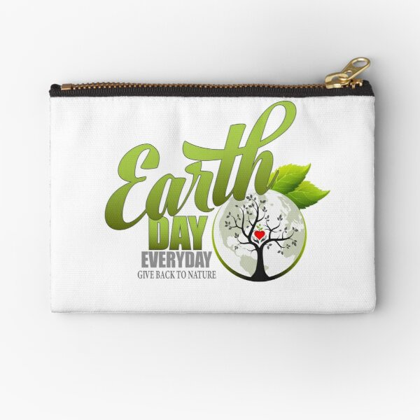 Give Back to Nature - Earth Day Everyday Zipper Pouch