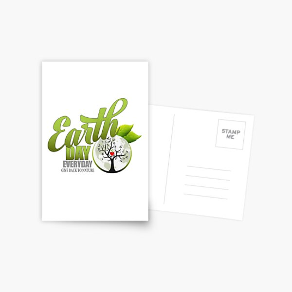 Give Back to Nature - Earth Day Everyday Postcard