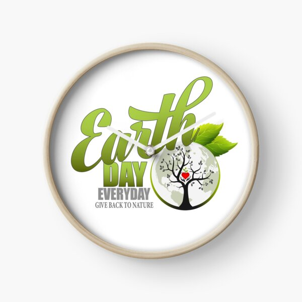 Give Back to Nature - Earth Day Everyday Clock