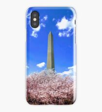 Washington Monument Cherry Blossoms iPhone Case