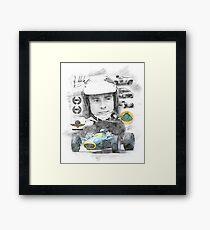 Jim Clark Framed Print