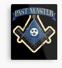 Freemason Past Master Tshirt Freemason Masonic Metal Print