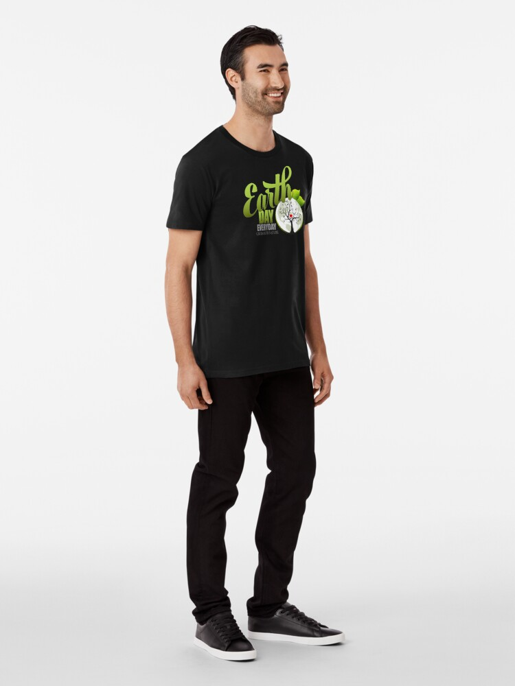 Alternate view of Give Back to Nature - Earth Day Everyday Premium T-Shirt