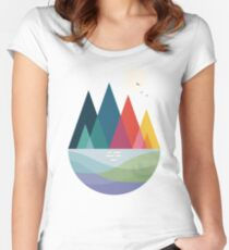 Somewhere Women's Fitted Scoop T-Shirt