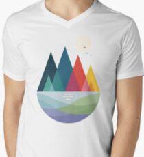Irgendwo T-Shirt mit V-Ausschnitt für Männer