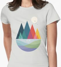 Somewhere Women's Fitted T-Shirt