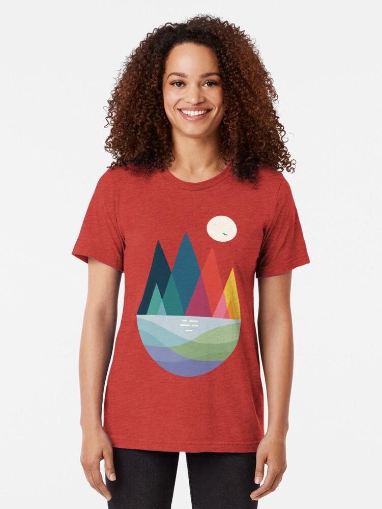 Alternate view of Somewhere Tri-blend T-Shirt