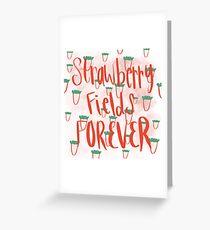 Tarjeta de felicitación Campos de fresa por siempre